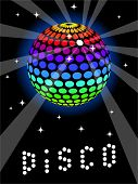 Rainbow Discoball poster