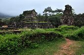 stock photo of champa  - UNESCO World Heritage Site My Son Sanctuary, Vietnam