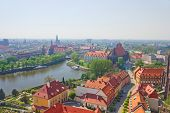 old  Wroclaw cityscape, Poland