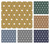 Entwined Metal Rings. Seamless Patterns.
