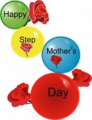 Happy Step Mother's Day Balloons..