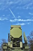 "stock photo of artillery  - ""Pantsir-S1"" - it is a self-propelled ground-based combined short to medium range surface-to-air missile and anti-aircraft artillery weapon - JPG"