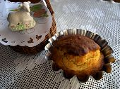 Easter Cake And Lamb