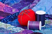 Quilting thread and pincushion
