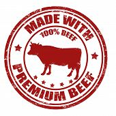 Made With Premium Beef Stamp