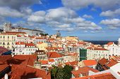 Rooftops Of Alfama, Lisbon, Portugal