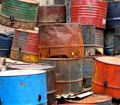 Old Rusty Oildrums