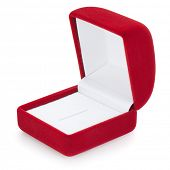 Open jewelry box, isolated on the white background, clipping path included.