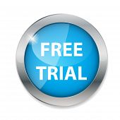 Free trial  button vector illustration