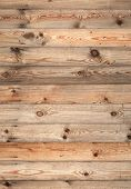 Uncolored Wooden Wall. Detailed Photo Background Texture