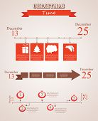 three christmas season time line templates with seasonal icons