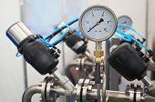 picture of air pressure gauge  - the image of a pressure - JPG