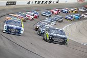 Ft Worth, TX - Nov 03, 2013:  The NASCAR Sprint Cup teams take to the track for the AAA Texas 500 ra
