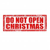 Do Not Open Christmas-stamp