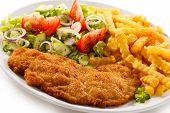 stock photo of pork cutlet  - Fried pork chop - JPG