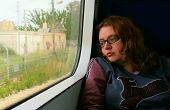 Girl On Train Looking Outside poster