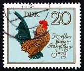 Postage Stamp Gdr 1979 German Cock, Figurine