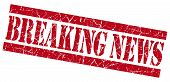 Breaking News Grunge Red Stamp