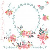 stock photo of embellish  - floral design elements - JPG