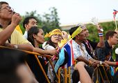 Bangkok - November 11, 2013 : Anti-government Protesters At The Democracy Monument On November 11, 2