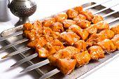 Seasoned Chicken Skewers Ready To Grill