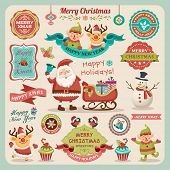 stock photo of elf  - Retro elements for Christmas designs - JPG