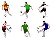 soccer players illustration 2
