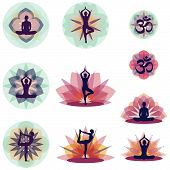 Yoga Postures - Vector Illuststration Set