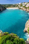 foto of porter  - Cala en Porter beautiful beach in menorca at Balearic islands of spain - JPG