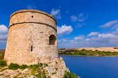 pic of mola  - Menorca La Mola watchtower tower Cala Teulera in Mahon at Balearic islands - JPG