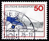 Postage Stamp Germany 1976 Junkers F 13, Airplane