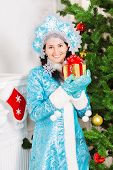 Smiling Snow Maiden