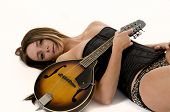 Sexy Girl With Mandolin