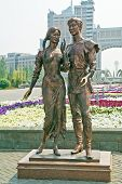 Astana. Sculpture Falling In Love