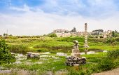 picture of artemis  - Flooded ruins of the Temple of Artemis one of the Seven wonders of the ancient world Selcuk Turkey - JPG