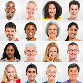 Collection Of Happy Multi-Ethnic People
