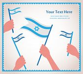 stock photo of israel israeli jew jewish  - Happy Israeli independence day - JPG