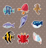 picture of loach  - Cartoon Fish Stickers - JPG
