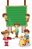 Kids Playing Music Poster