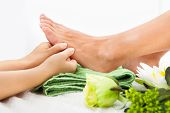 stock photo of reflexology  - Close - JPG