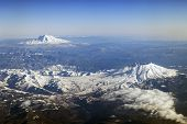 Mt. St. Helens and Mt. Adams, Washington