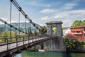 Tuscany, the Chain Bridge in Bagni di Lucca