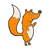 cartoon waving fox
