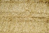 Background created with straw bales stacked