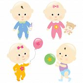 Baby Set 3 Isolated