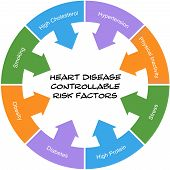 Heart Disease Controllable Risk Factors Circle Concept Scribbled