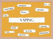 Vaping Corkboard Word Concept