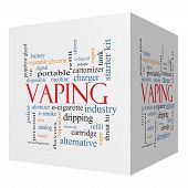 Vaping 3D Cube Word Cloud Concept