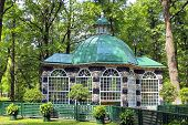 Pavilion For The Birds In The Park In St. Petersburg