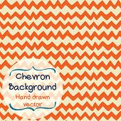 Doodle chevron background